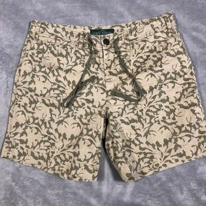 LRL Lauren Jeans Co. Shorts Sz 6 Khaki Olive Green